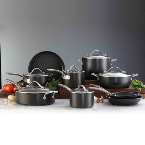 Kirkland New Signature Hard-Anodized Aluminium Cookware 15 Piece Set
